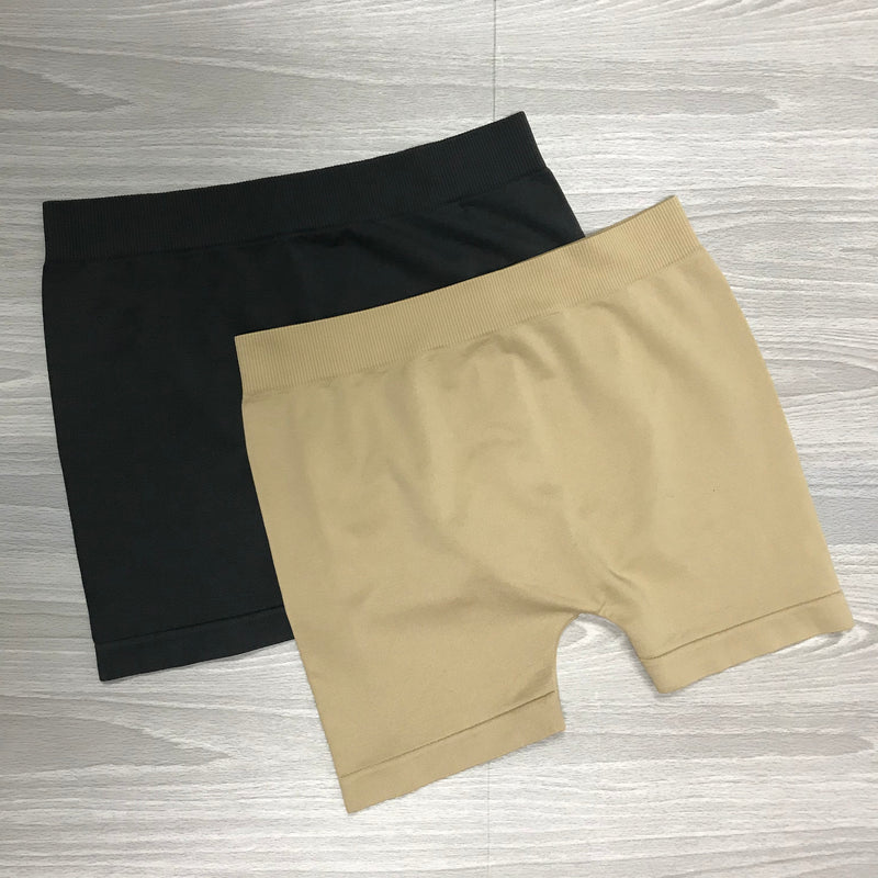 Seamless Mini Shorts-(Nude)