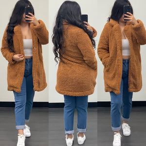 Evette Fur Coat-(Camel)