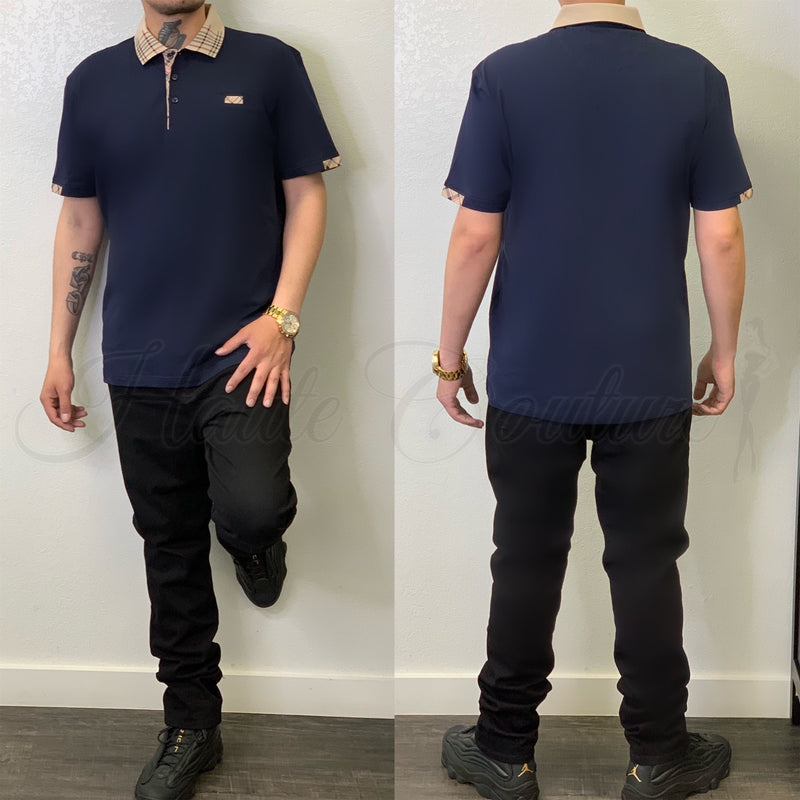 Brandon Polo-(Navy) - Haute Couture
