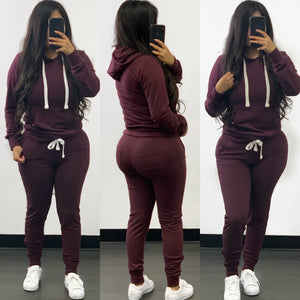 Misty Jogger Set-(Plum)