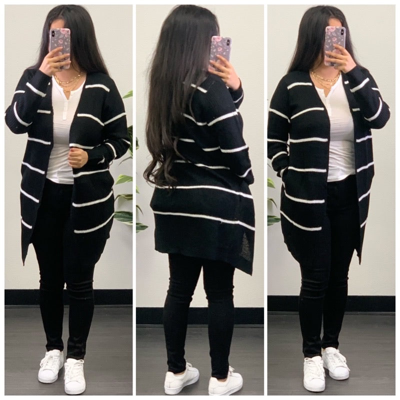 Nellie Cardigan-(Black)
