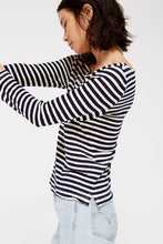 Row Tee - Navy Stripe