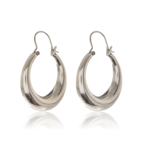 The Martina Tube Hoops- Silver