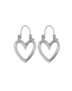Mini Heartbreaker Hoops- Silver