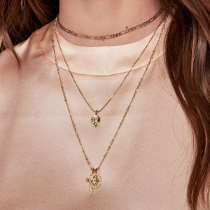 The Isidore Cross Charm Necklace- Gold