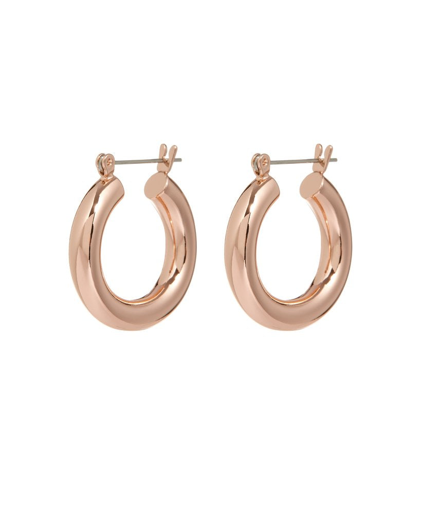 Baby Amalfi Tube Hoops - Rose Gold