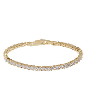 The Ballier Bracelet- 3mm Round - Gold