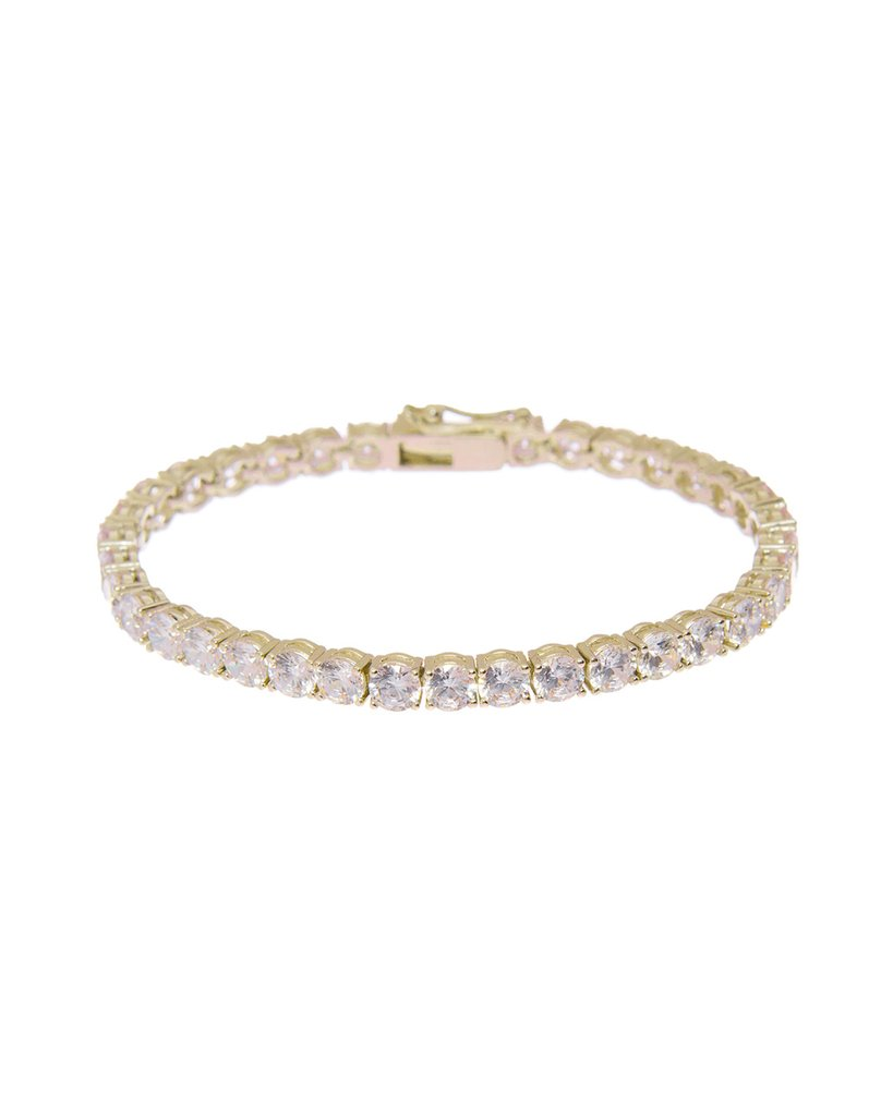 The Ballier Bracelet- 4mm Round - Gold
