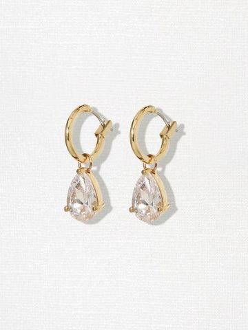 The Isabella Diamond Hoops - Gold