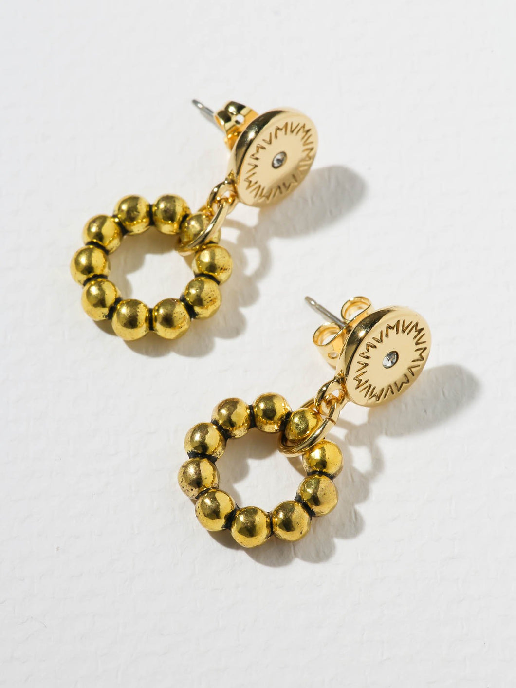 The Catalina Stud Hoops - Gold