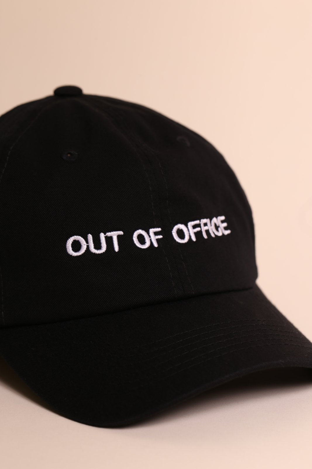 Out Of Office Hat - Black/White