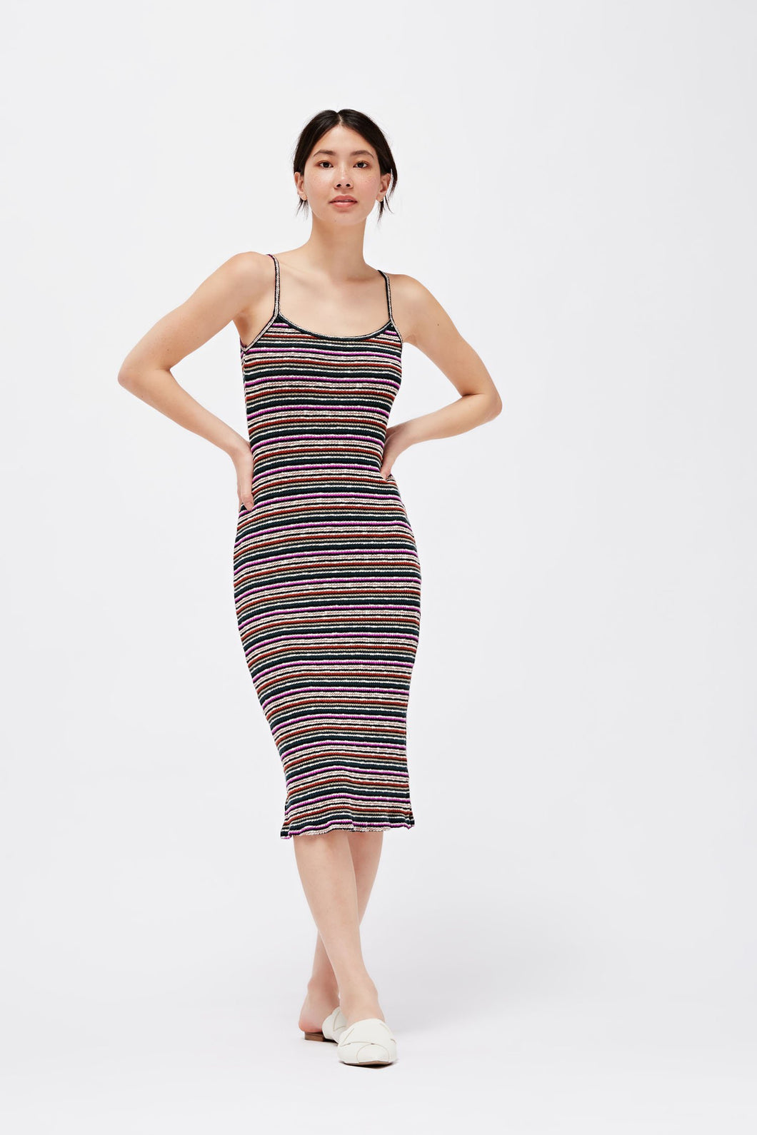Holly Rib Midi - Orchid Stripe