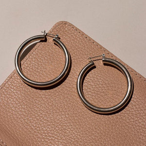 The Amalfi Tube Hoops - Silver