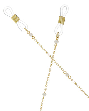The Margarite Pearl Sunglass Chain - Gold