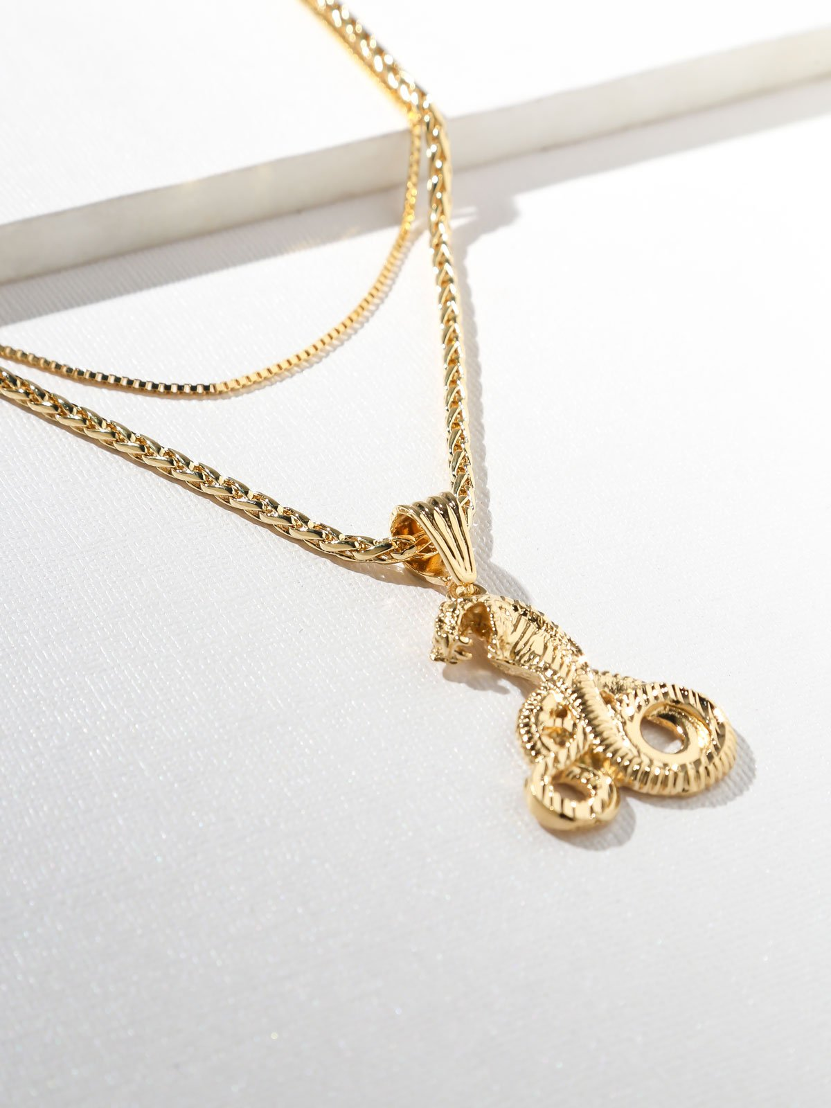 The Gold Cobra Necklace - Gold