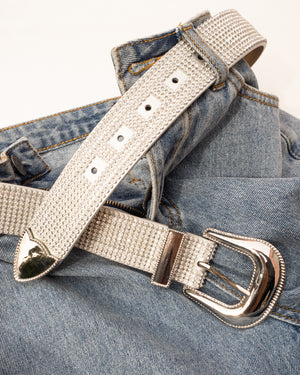 The Diamond Rodeo Belt - Silver