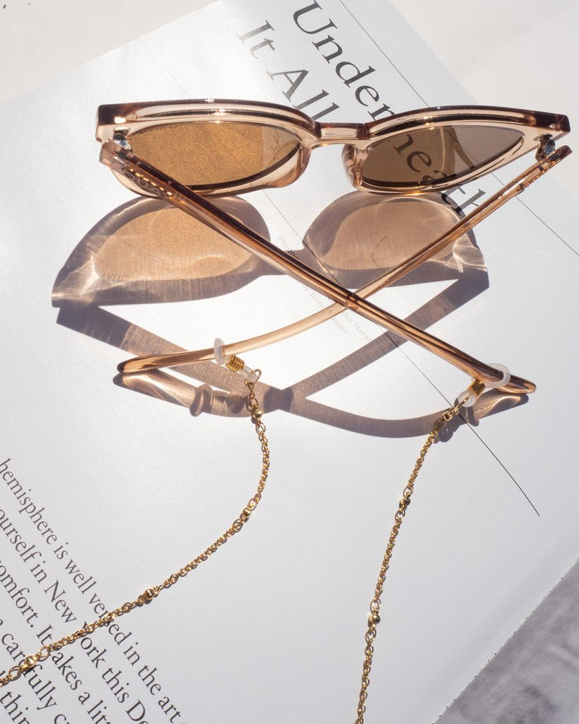 The Joplin Beaded Sunglass Chain - Gold