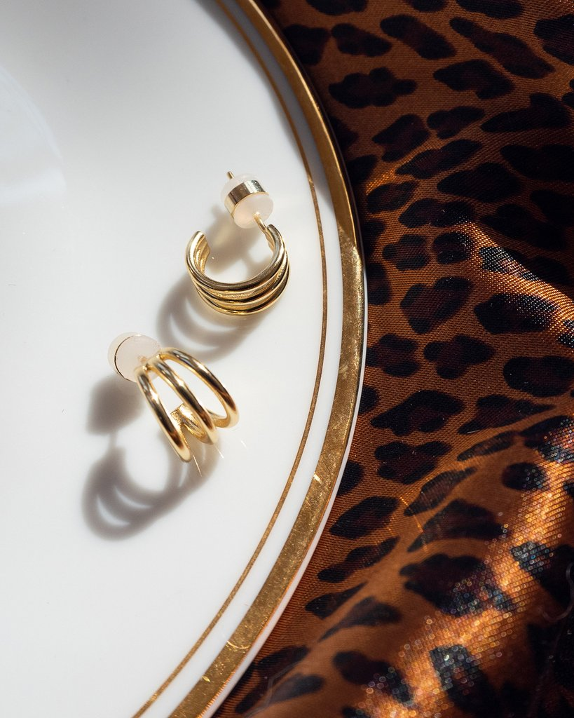 The Baby Bastille Hoops - Gold