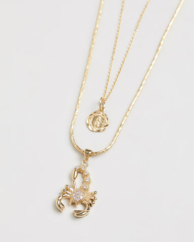 The Scorpion & Madonna Necklace