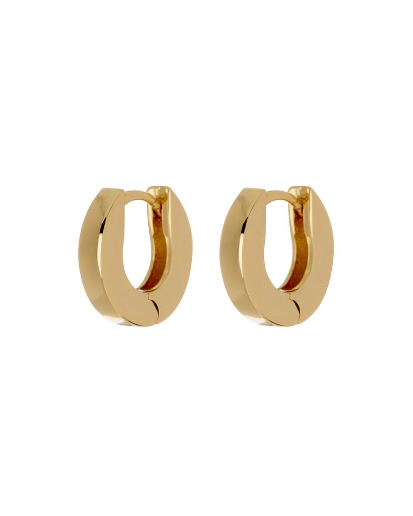Mini Coco Hinge Hoops- Gold