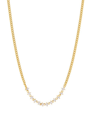 Ballier Curb Chain Necklace - Gold
