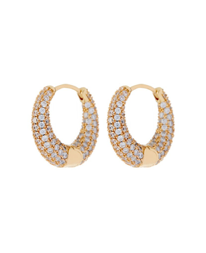 Pave Marbella Hoops- Gold