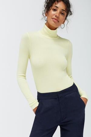 Sweater Rib Turtleneck - Buttermilk