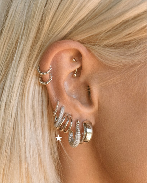 The Baby Bastille Hoops - Silver
