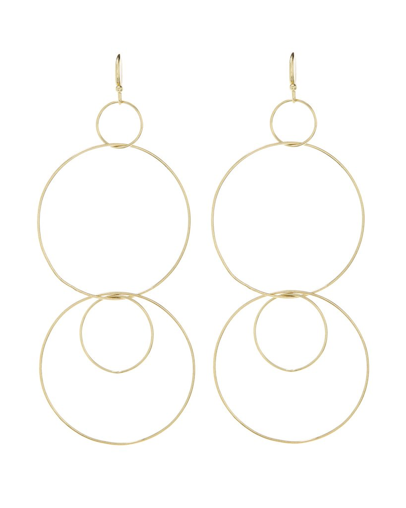 Whisper Wire Hoops - Gold