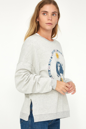 Malibu Sweatshirt - Grey Circle Print