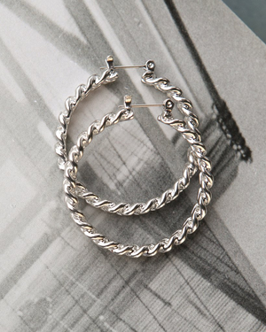 The Cuban Link Hoops - Silver
