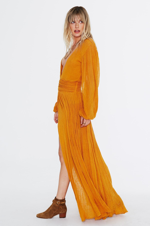 Lapis Maxi Dress - Deep Gold