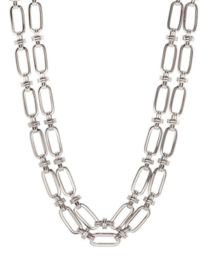 Isabella Statement Necklace - Silver