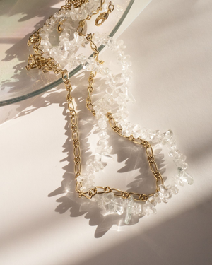 Rock Candy Necklace Duo - Gold