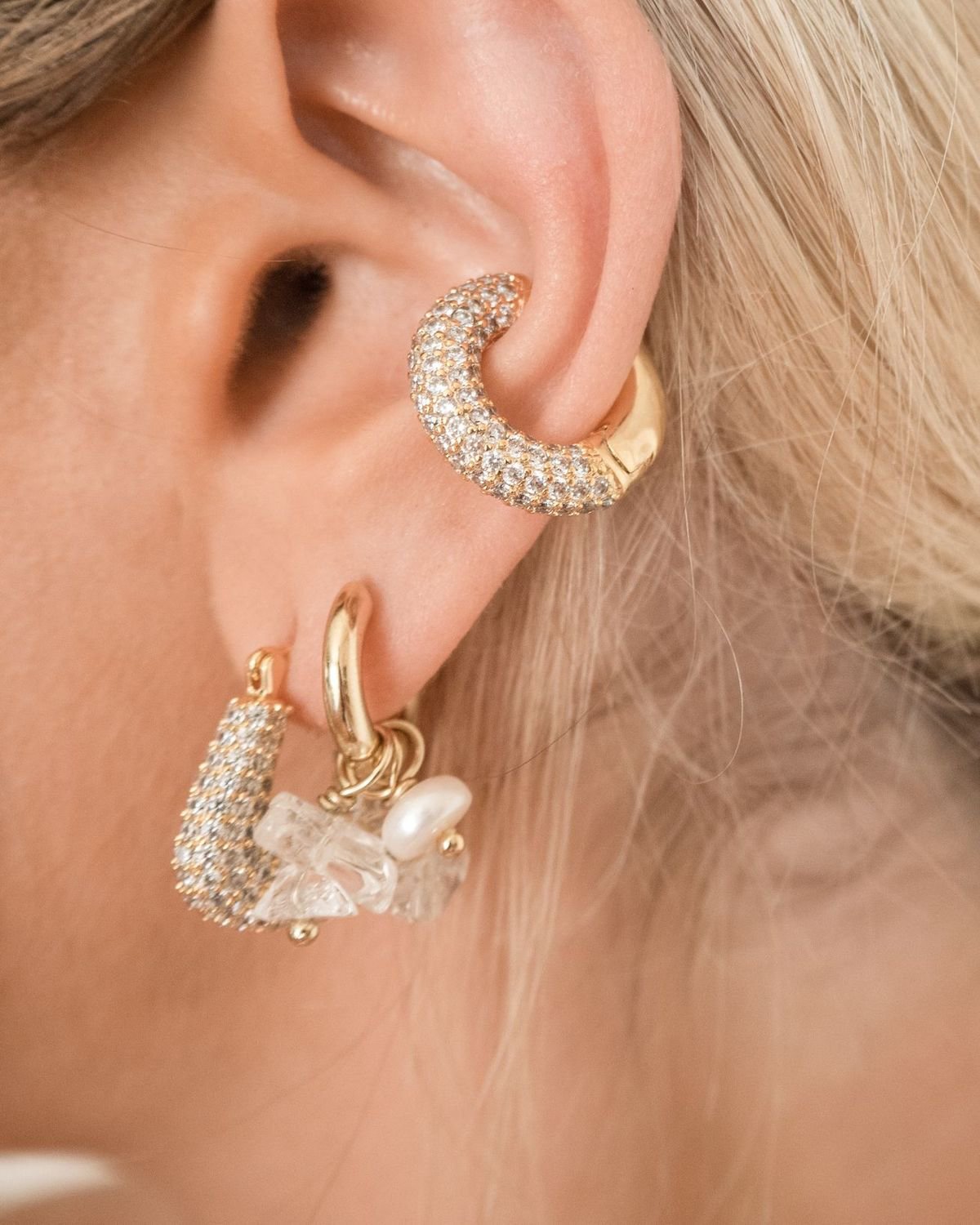 Pave Amalfi Ear Cuff - Gold