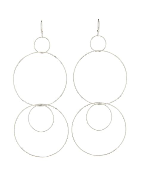 The Whisper Wire Hoops - Silver