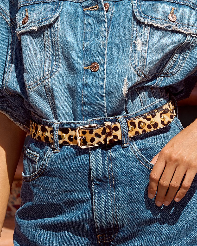 The Bella Studded Belt - Gold SAMPLE