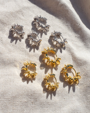 The Dahlia Hoops - Gold