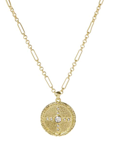The Pave Polaris Charm Necklace - Gold