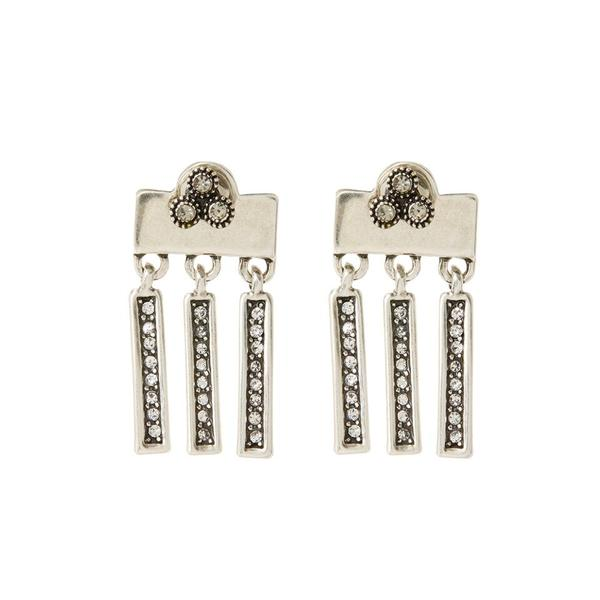 The Moroccan Dangle Studs - Silver