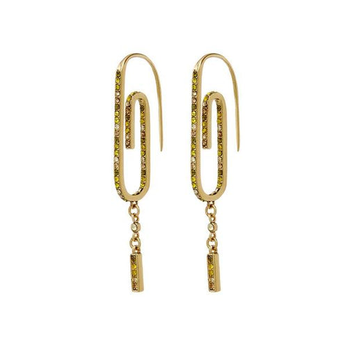 Ombre Paper Clip Earrings - Gold