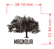 AGL Discs - Magnolia Tree Mini Stamp