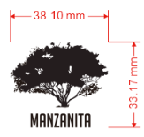 AGL Discs - Manzanita Tree Mini Stamp