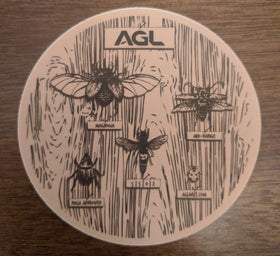AGL Discs - Magnolia Sticker (Tree Bark w/ Bugs)