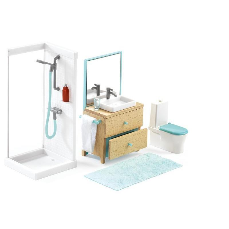Djeco The Bathroom Doll House Furniture
