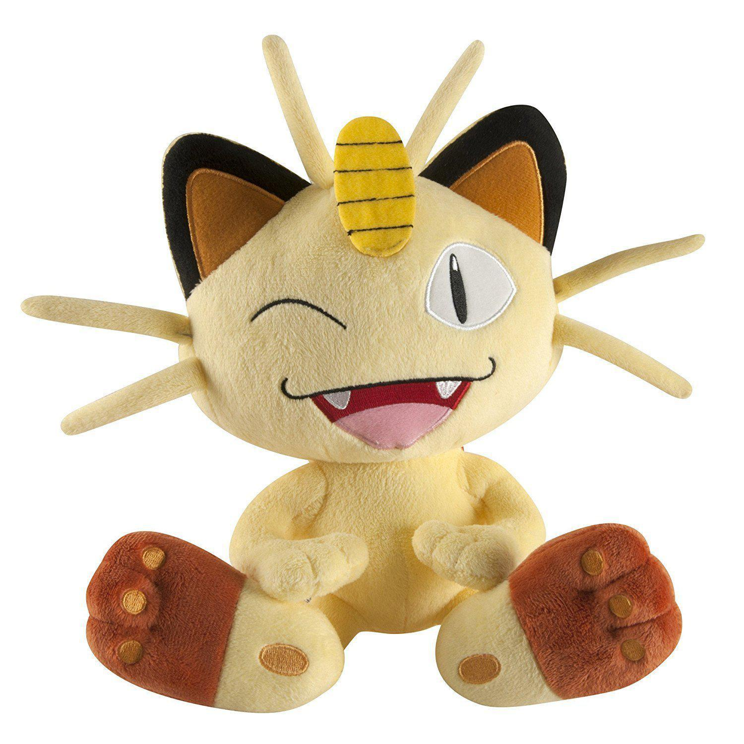TOMY Pokemon Large Plush Meowth 10""