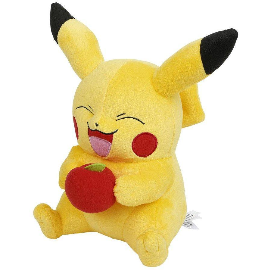 buy pokemon large plush pikachu with apple cubox. Black Bedroom Furniture Sets. Home Design Ideas