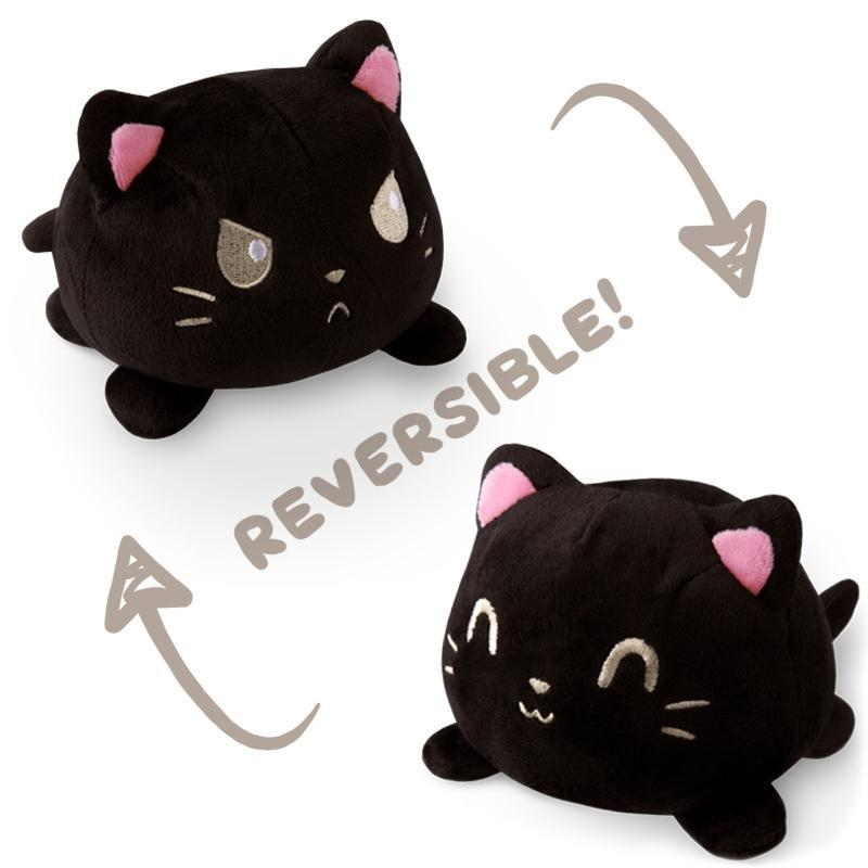 Reversible Cat Plushie Black