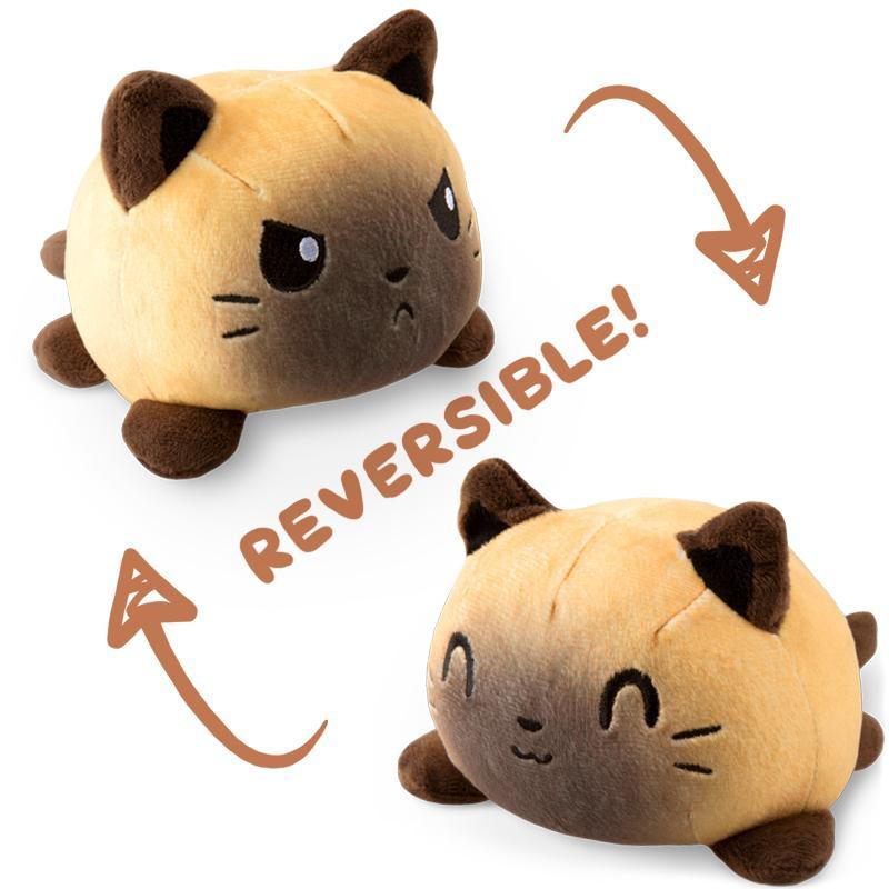 Reversible Cat Plushie Siamese