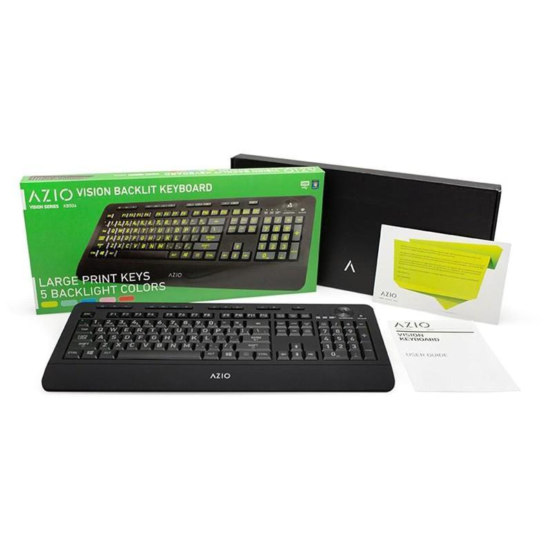 AZIO VISION Large Print Backlit Keyboard KB506 - Cubox Australia